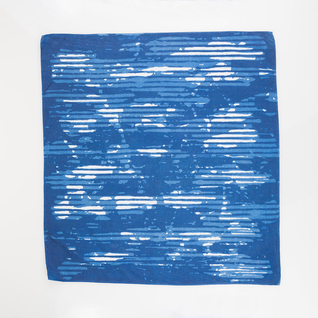 Indigo Silk Bandana - Mirage - Small Square - Slowstitch Studio