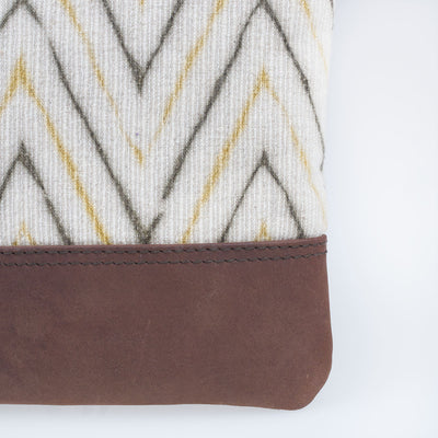 Leather Crossbody - Woody Chevron - Slowstitch Studio