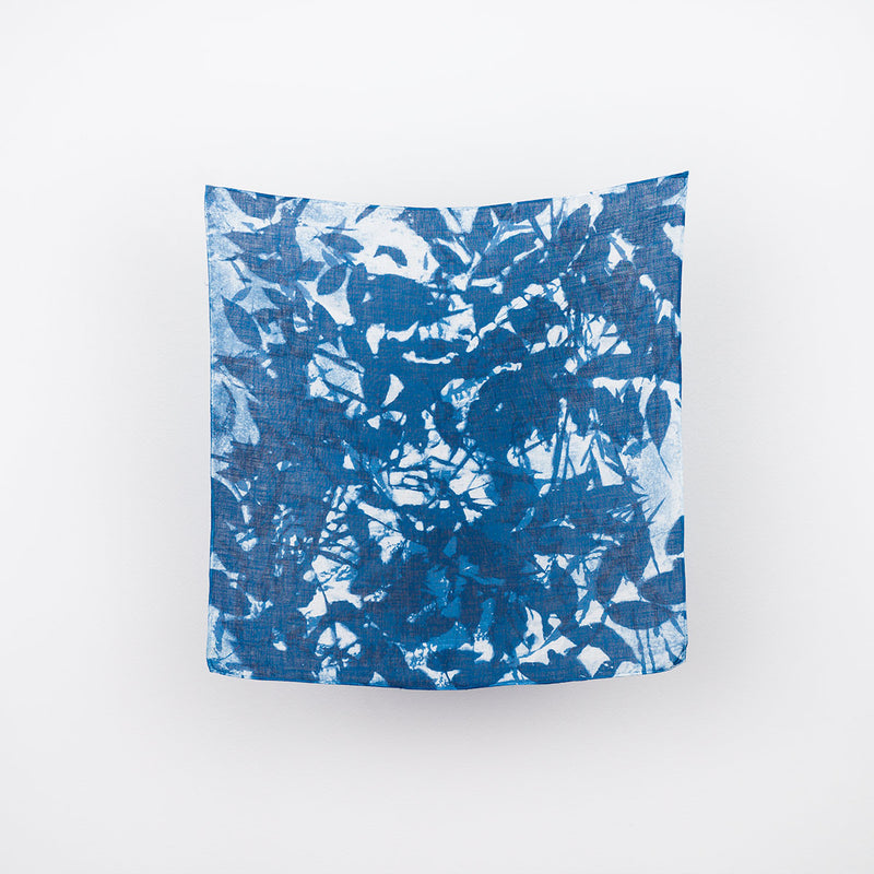 Linen Bandana - Blue Meadow #2