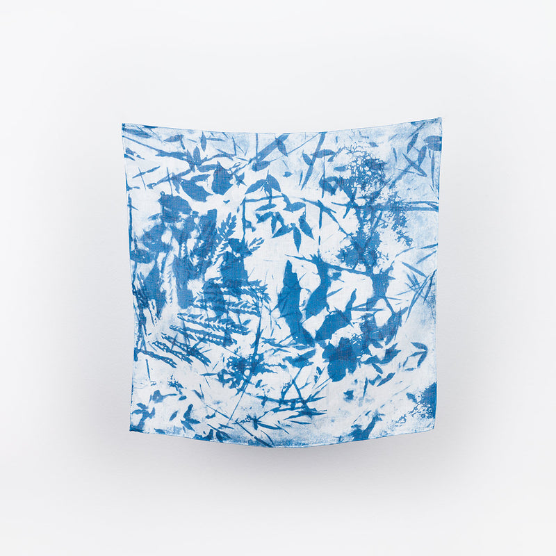 Linen Bandana - Blue Meadow #3