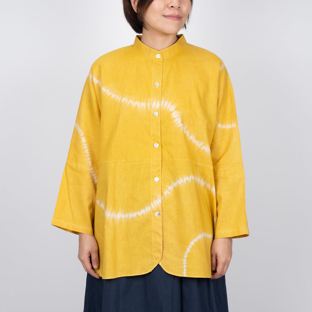 Mandarin Collar Shirt - Sunshine