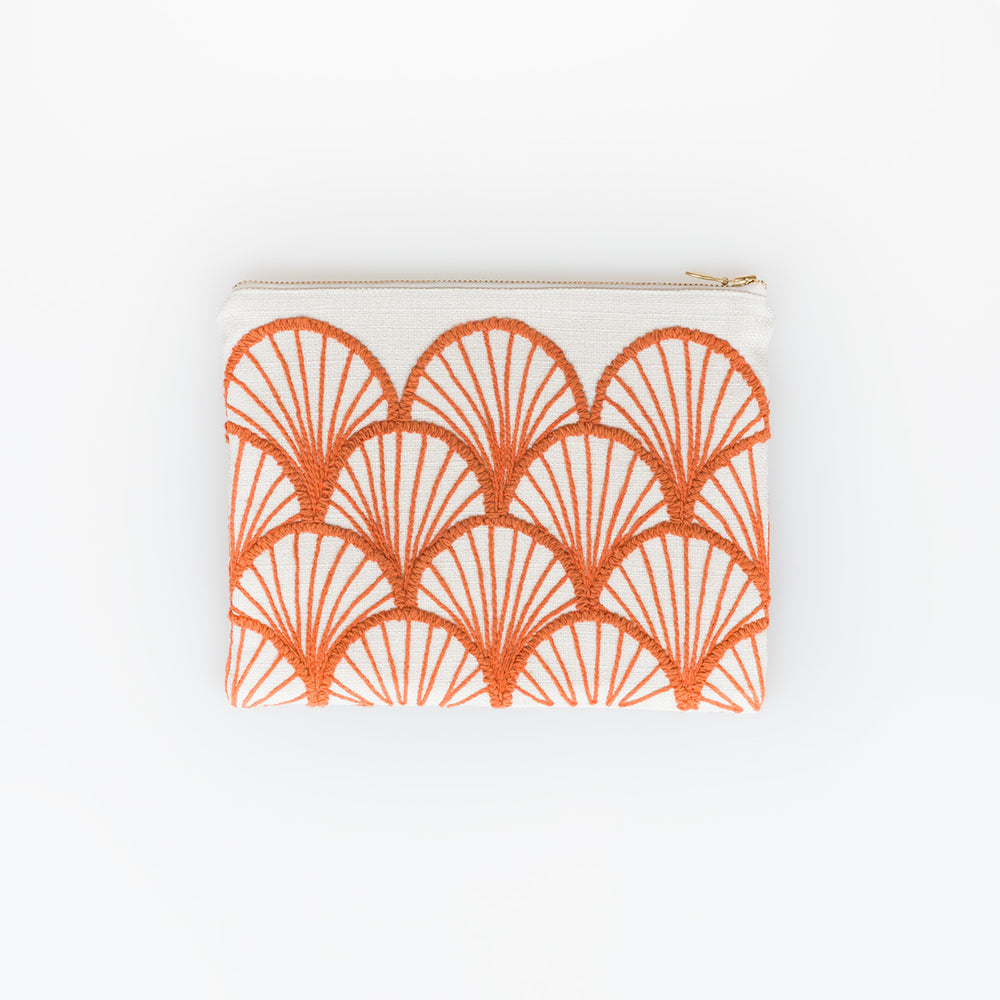 Mandarin Zip Clutch - Slowstitch Studio