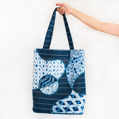 Maritime Blues Bucket Tote - Slowstitch Studio
