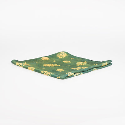 Natural Dye Silk Bandana - Acorns - Slowstitch Studio