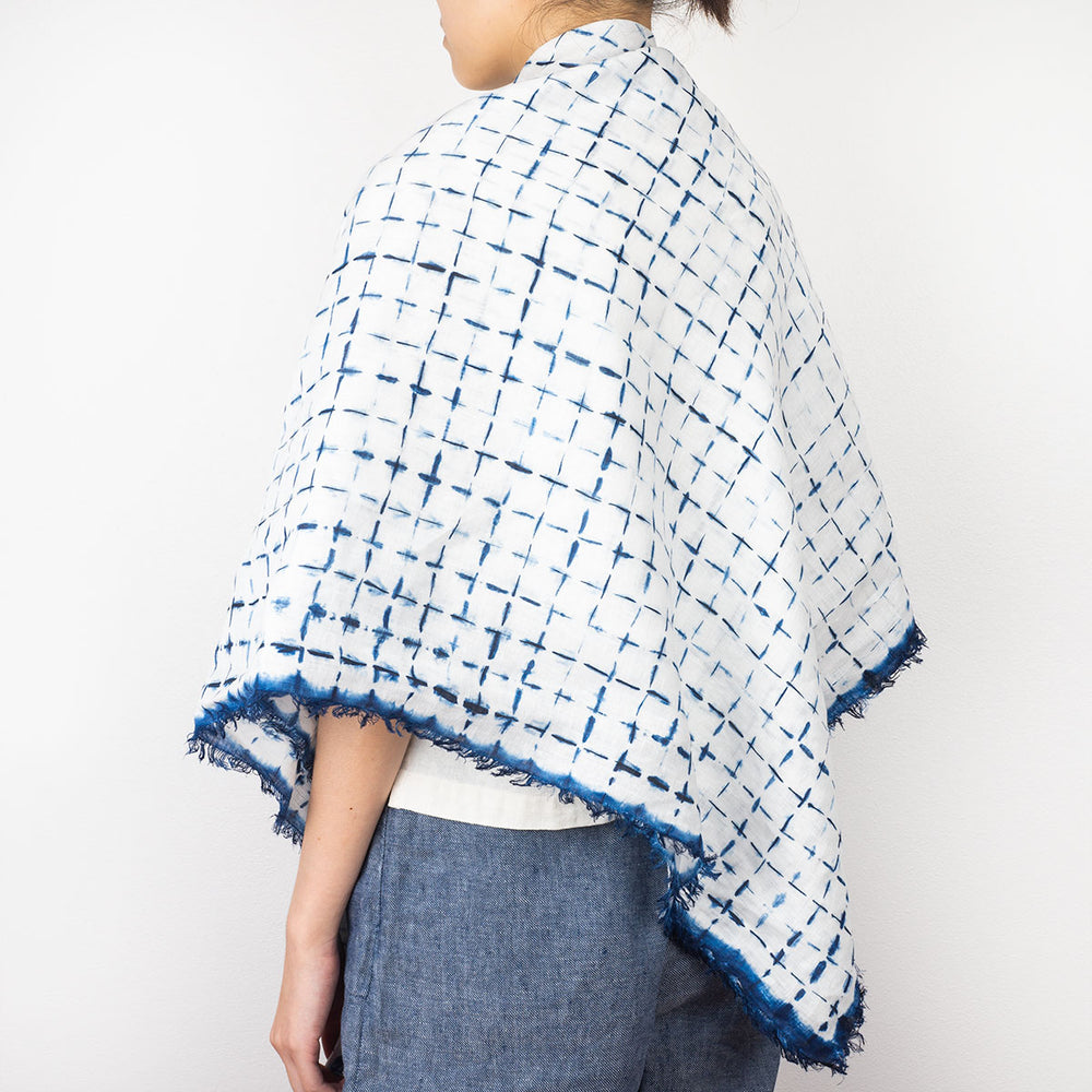 Linen Shawl - Lattice - Slowstitch Studio