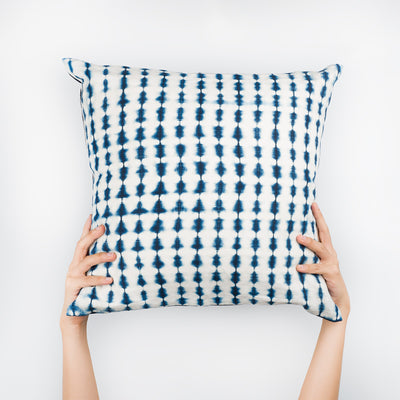 Shibori Indigo Pillow - Abacus - Slowstitch Studio