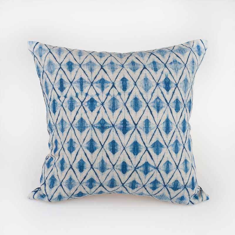 Beige Diamond Pillow - Slowstitch Studio