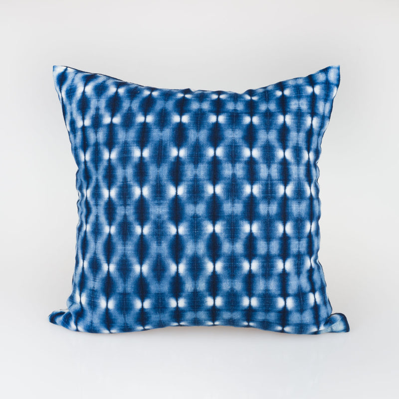 Shibori Indigo Pillow - Fireflies - Slowstitch Studio