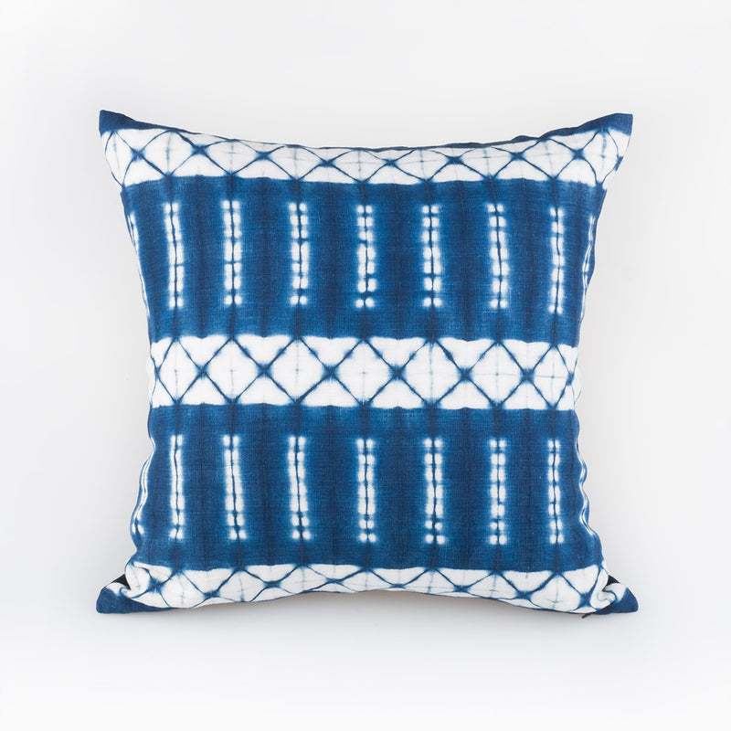 Shibori Indigo Pillow - Floret - Slowstitch Studio