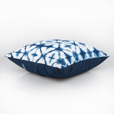 Shibori Indigo Pillow - Folds - Slowstitch Studio