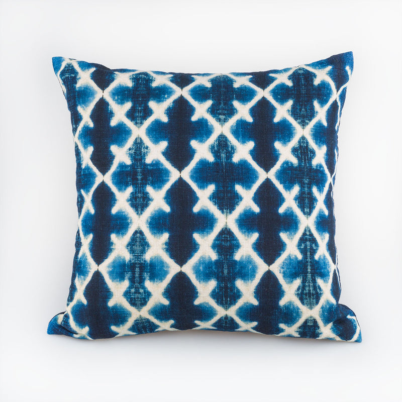 Shibori Indigo Pillow - Katano - Slowstitch Studio