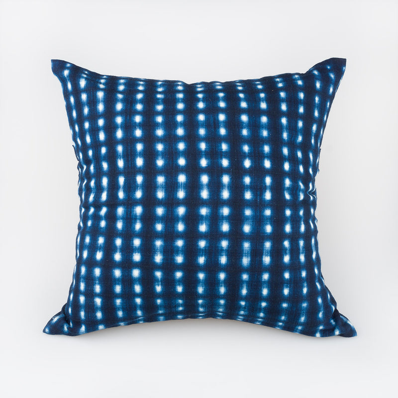 Shibori Indigo Pillow - Nodes - Slowstitch Studio
