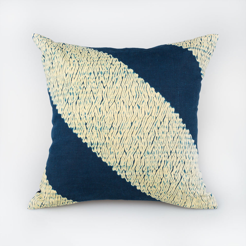 Shibori Indigo Pillow - Python - Slowstitch Studio