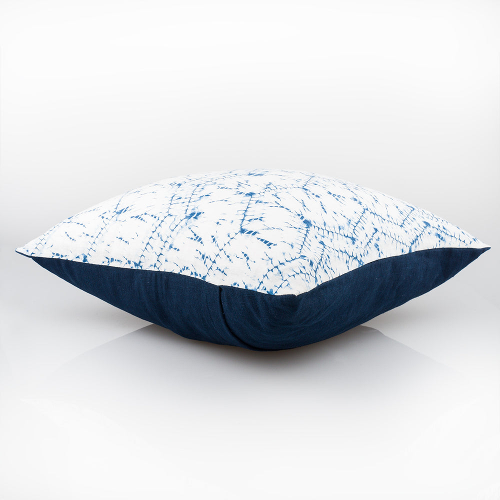 Shibori Indigo Pillow - Serpentine - Slowstitch Studio