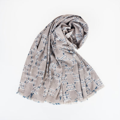 Linen Scarf - Vines - Slowstitch Studio