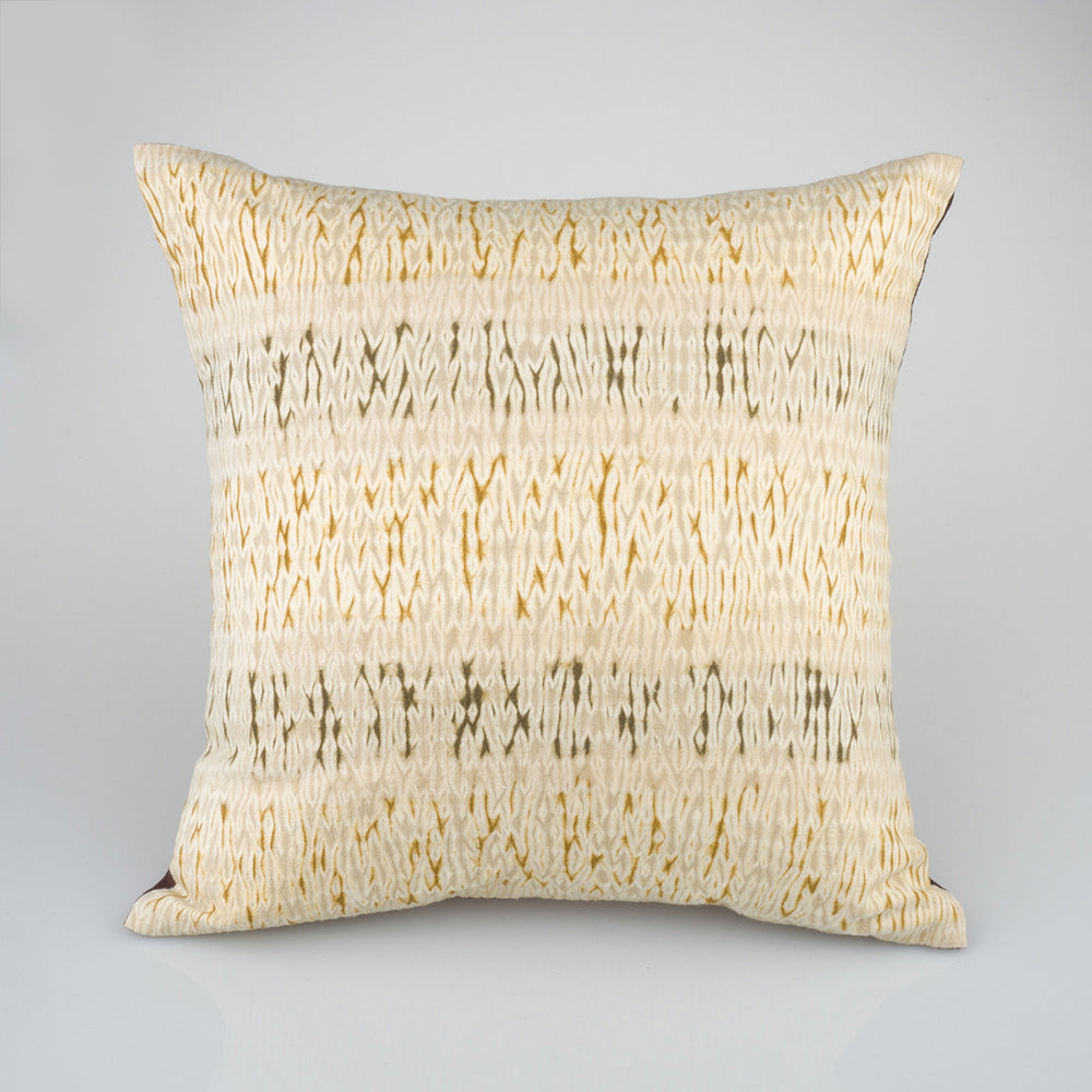 Shibori Natural Dye Pillow - Dunes - Slowstitch Studio