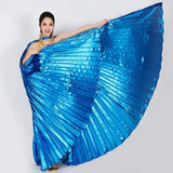 AEDW06 High Quality Dancing Dress 2017 Egypt Belly Wings Dancing Costume Belly Dance accessories No Sticks