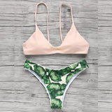 AEB312 Dropshipping 2017 Bikinis Swimwear Women Summer Sexy Swimsuit Bath Suit Bikini Printed Biquini Bikini Set Beach Wear wholesale