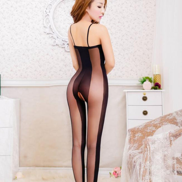 AEB117 Women Sexy Backless  Open Crotch  Bodystockings Bodysuits