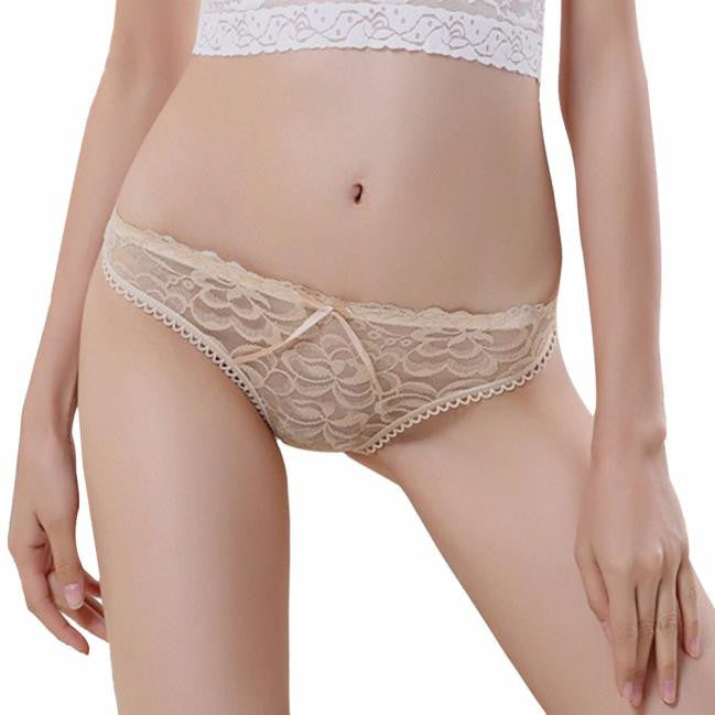 AEB125 Women Sexy Lace Briefs Panties Thongs G-string Lingerie Underwear BG
