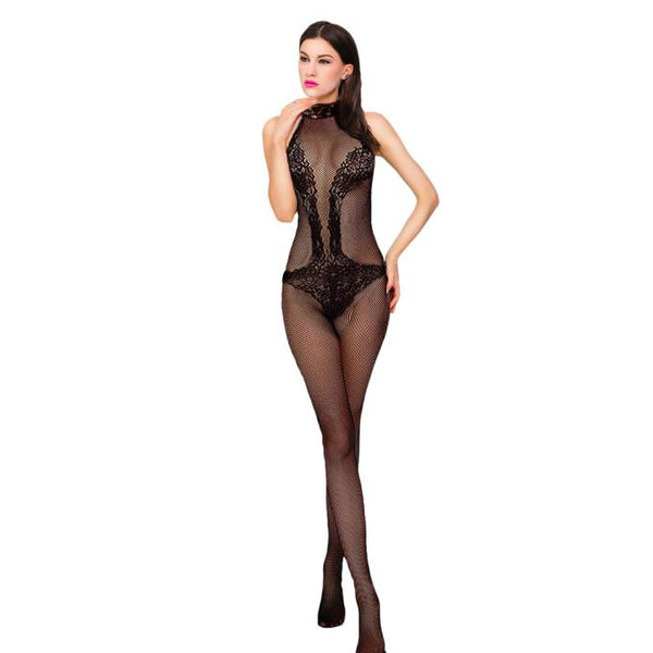 AEB139 Women Sexy Lingerie Transparent Black Erotic Condole belt Bodysuit