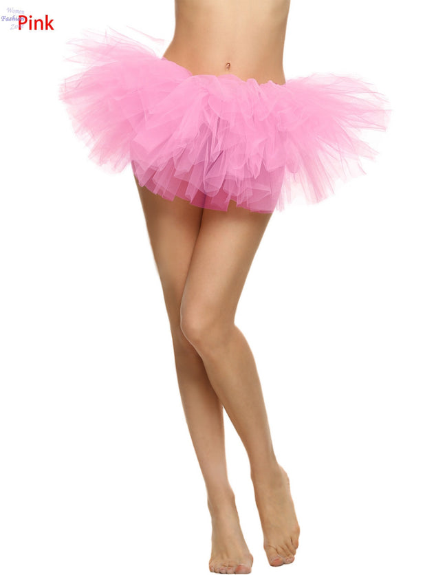 AEDW08 Women's Classic Tulle Layered Tutu Skirt Ballet Dancing Dress