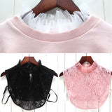 AED24 Women New Blouse False Collar Clothes Shirt Detachable Collars Lace Floral