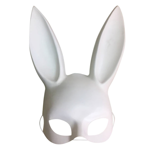 AEA14 Matte Easter Party Rabbit Ears Mask Half Face Masks Nightclub Bar Masquerade