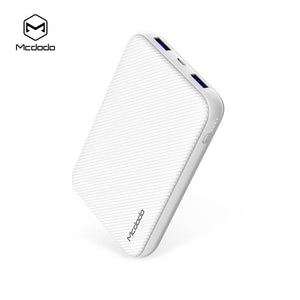 Mcdodo QC3.0 Power Bank with Dual USB Ports, with type-c and micro usb jack - Beauty Plaza