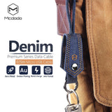 Mcdodo USB AM Denim Data Cable with Key Chain (0.15m)/without Key Chain(1.2m) - Beauty Plaza