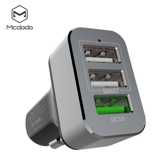 Mcdodo QC3.0 3.4A Three USB Posts Car Charger - Beauty Plaza