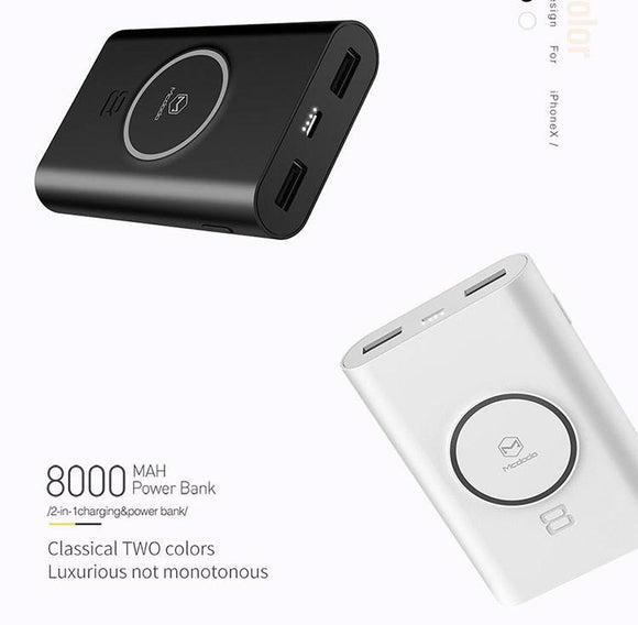 Mcdodo 5W Wireless Power Bank 8000mAh - Beauty Plaza
