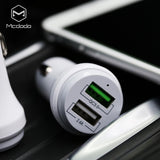 QC3.0 5V 2.4A Dual USB Ports Car Charger - Beauty Plaza