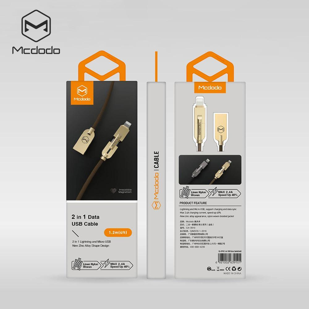 Mcdodo USB AM to Lightning+Micro Cable