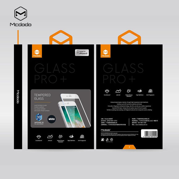 Mcdodo iPhone Sapphire 3D Full Cover Tempered Glass - Beauty Plaza
