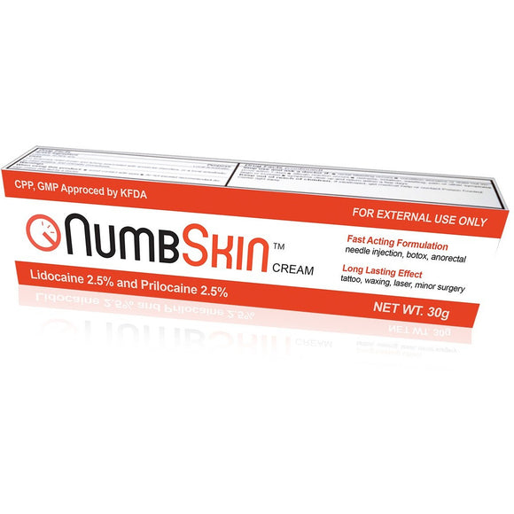 NumbSkin Red Lidocaine 2.5% + Prilocaine 2.5% Numbing Cream 30g