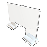 "Table Divider Sneeze Guard 24"" X 30"" with Stands"
