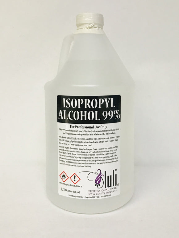 Luli Isopropyl Alcohol 99%, Gallon - Sealed - Beauty Plaza
