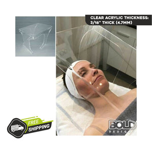 Acrylic Sneeze Guard Box for Esthetician & Beauty Salons