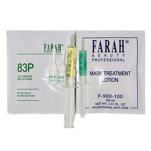 Acne treatment kit with mask, peeling, and concentrate