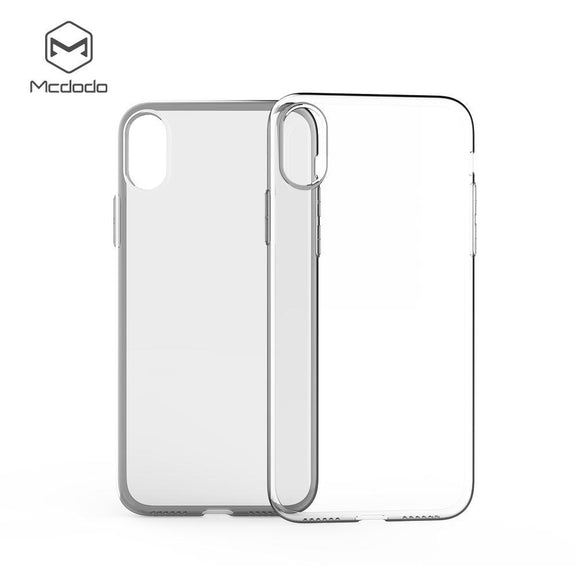 Mcdodo iPhoneX Crystal Soft Slim Jacket Case  (TPU) - Beauty Plaza