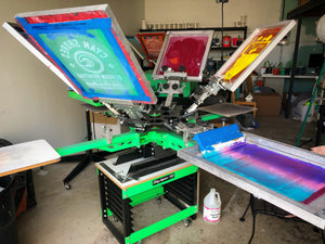 Beginners Screen Printing Classes by Cyan Shores & Elizabeth Ave. Station