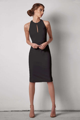 Jenny High Neck Halter Dress...