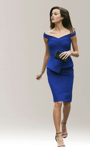 Meredith Off Dress with Peplum