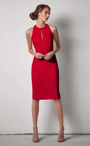Jenny High Neck Halter Dress
