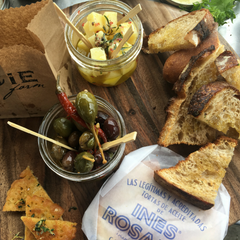 Marinated Cheese and Mixed Olives