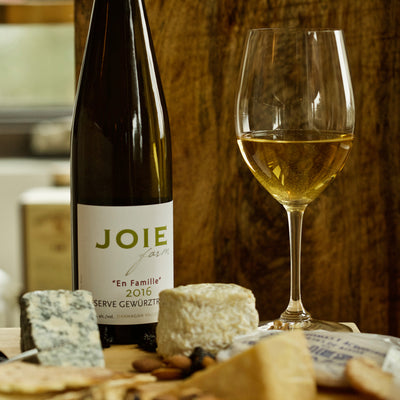 JoieFarm En Famille Reserve Gewurztraminer with cheeses