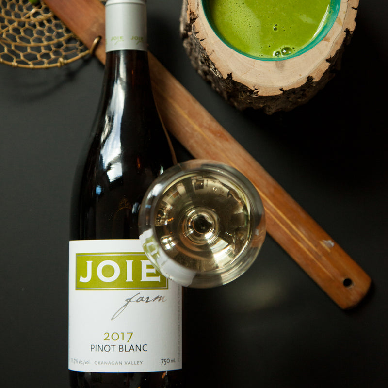 Bottle of JoieFarm Pinot Blanc 2017