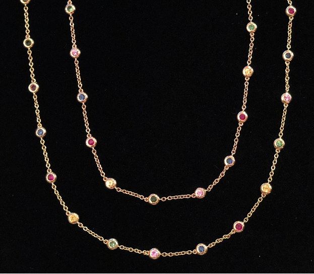THE RAINBOW NECKLACE - ROSE GOLD