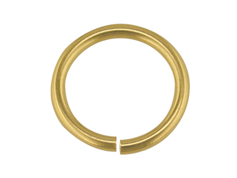 9CT GOLD 7MM JUMP RING HEAVY